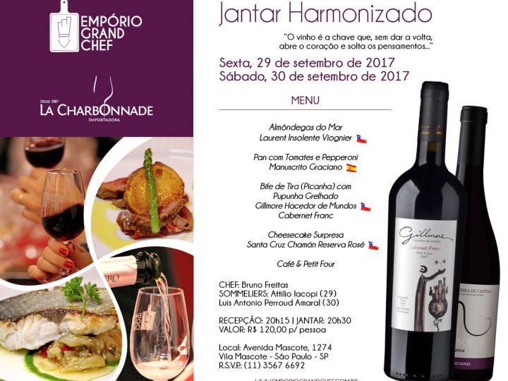 Jantar Harmonizado / 29 e 30.setembro.2017