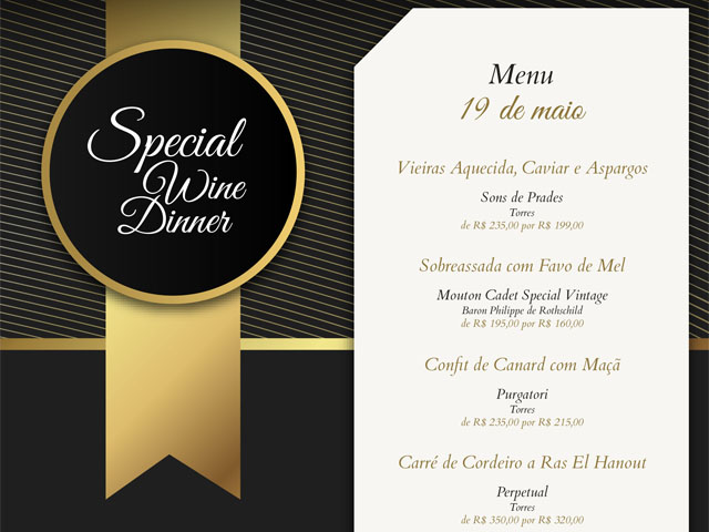 Special Wine Dinner / 19.maio.2018